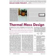 07: Solar NZEB Project: Thermal Mass Design