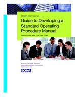 Guide to Developing a Standard Operating Procedure Manual