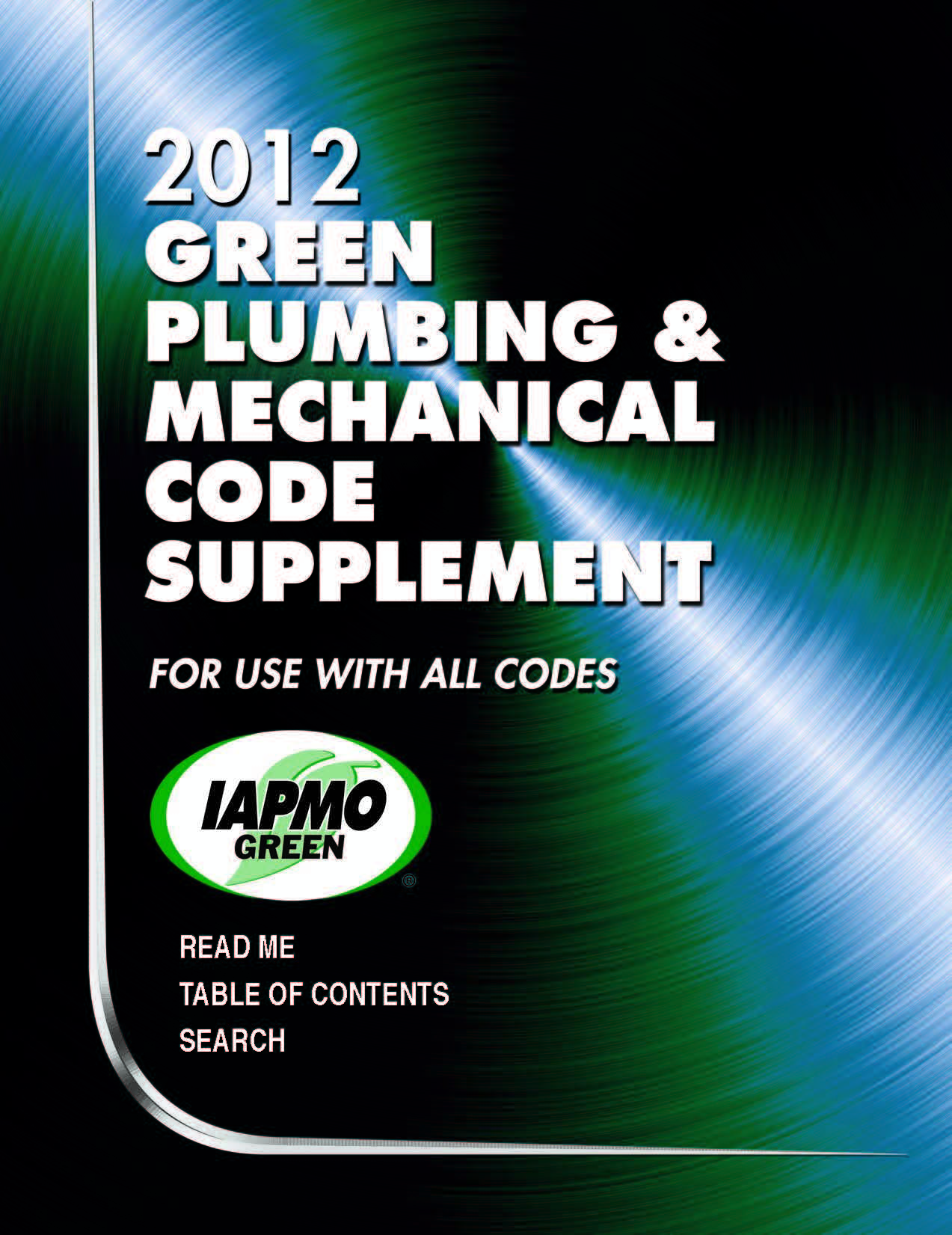 IAPMO 2012 Green Plumbing and Mechanical Code Supplement